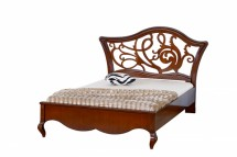 Кровать 120 изголовье с резьбой