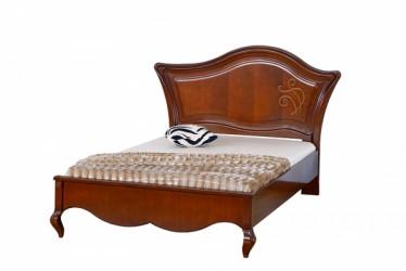 Кровать 120 деревянное изголовье с апликациями