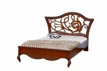 Кровать 120 резное изголовье