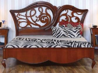 Кровать 180 резное изголовье