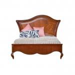 Кровать 120 деревянное изголовье с орнаментом