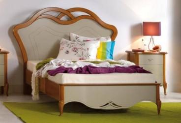 Кровать 120 изголовье дерево