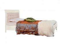 Кровать с кож. изголовьем и низк. изножьем 120/140
