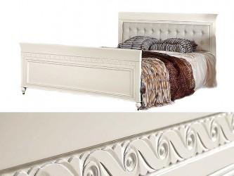 Кровать с кож. изголовьем выс. изножьем 160/180