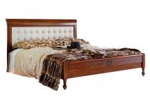 Кровать с кож. изголовьем низк. изножьем 160/180
