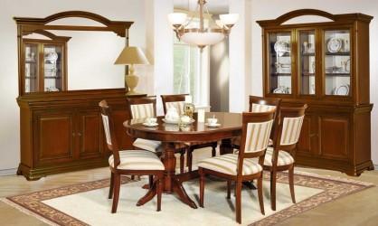 Румынский обеденный стол и стулья Элеганс Орех (Elegance Nuc), Mobex