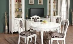 Румынский обеденный стол и стулья Флора (Flora), Simex