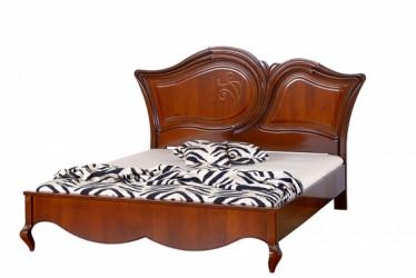 Кровать 180 деревянное изголовье с орнаментом