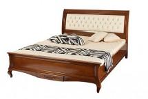 Кровать 160 обитая спинка с пуговицами