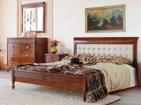 Кровать 180 с кожаным изголовьем