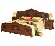 Кровать 1800 деревянная спинка