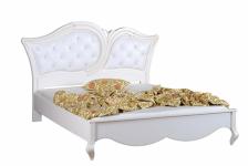 Кровать 180 мягкое изголовье (кожа) с пуговицами