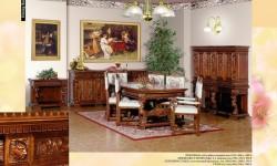 Румынский обеденный стол и стулья Итальянский Ренессанс (Italian Renaissance), Mobex
