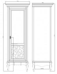 Шкаф 1 дверь для холла