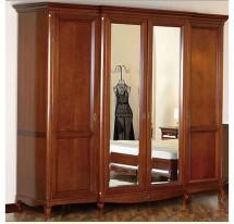 Шкаф 4 двери (2 зеркальных двери)
