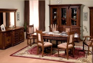 Румынский обеденный стол и стулья Венеция Люкс (Venetia Lux), Simex