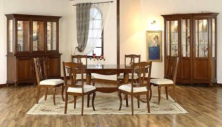 Румынский обеденный стол и стулья Вивере (Vivere), Mobex