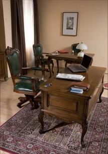 Вращающийся стул с подлокотниками (ткань)